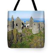Castle On A Cliff, Dunluce Castle Tote Bag