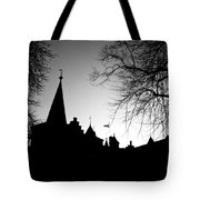 Castle Silhouette Tote Bag by Semmick Photo