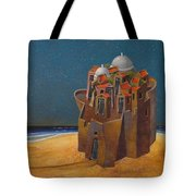 Castle With Two White Domes Tote Bag