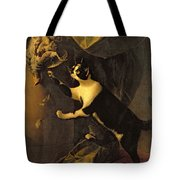 Cat And Dead Game  Tote Bag