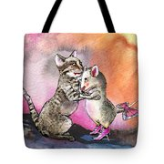 Cat And Mouse Reunited Tote Bag