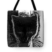 Cat Coming In Tote Bag