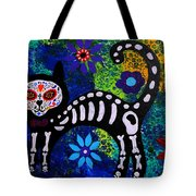 Cat Day Of The Dead Tote Bag