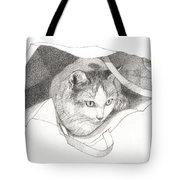 Cat In A Bag Tote Bag