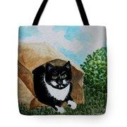 Cat In The Bag Tote Bag