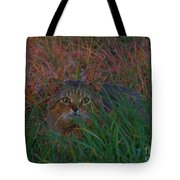 Cat In The Grasses Tote Bag