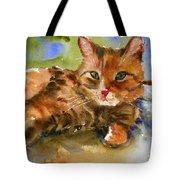 Cat King Tote Bag