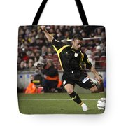 Catalan Player Shooting Tote Bag