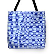 Catch A Wave - Blue Abstract Tote Bag