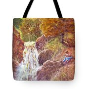 Catching The Last Light Tote Bag