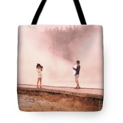 Catching The Steam In Yellowstone Tote Bag