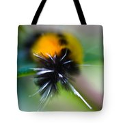 Caterpillar In Abstract Tote Bag