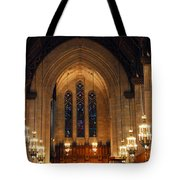 Cathedral In Chicago Tote Bag