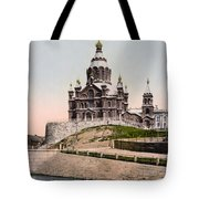 Cathedral In Helsinki Finland - Ca 1900 Tote Bag