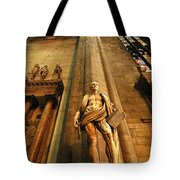 Cathedral Statue Milan Italy Tote Bag