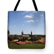 Cathedrale And Cloister Garden Tote Bag