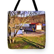 Catoctin Lake Boathouse Tote Bag