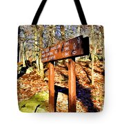 Catoctin Trail Sign Tote Bag