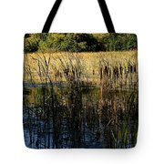 Cattail Duck Cover Tote Bag