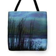 Cattails In Mist Tote Bag