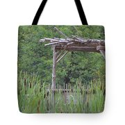 Cattails In The Garden Tote Bag