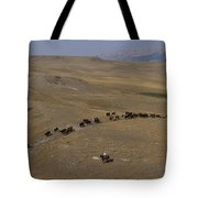 Cattle Drive In Montana Tote Bag