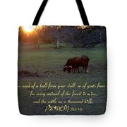 Cattle On A Thousand Hills Tote Bag
