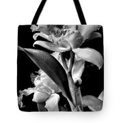 Cattleya - Bw Tote Bag by Christopher Holmes