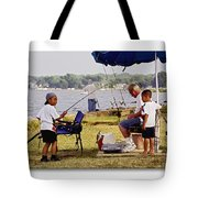 Caught Another One  Tote Bag by Brian Wallace