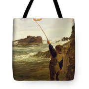 Caught By The Tide Tote Bag