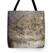 Cave Art - Mammoth And Ibexes Tote Bag
