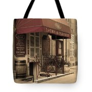 Cave Du Paradoxe Wine Shop In Beaune France Tote Bag