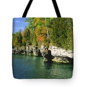Cave Point Cove Tote Bag