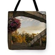 Caveman Bridge Arch And Flowers Tote Bag
