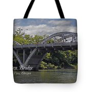 Caveman Bridge With Text Tote Bag