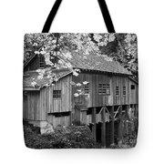 Cedar Creek Grist Mill Bw Tote Bag