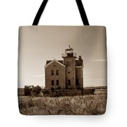 Cedar Island Lighthouse Tote Bag