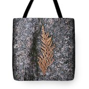 Cedar On Granite Tote Bag