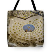 Ceiling With Foot Hanging Out Tote Bag