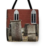 Cemetery And Church Tote Bag