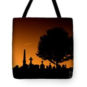 Cemetery And Tree Tote Bag