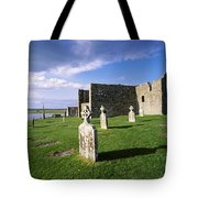 Cemetery In Front Of A Monastery Tote Bag