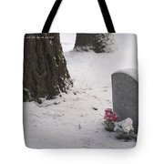 Cemetery In Winter Tote Bag