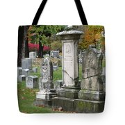 Cemtery Cracked Tombstones Tote Bag