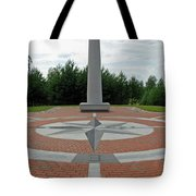 Center Of Europe. Lithuania Tote Bag