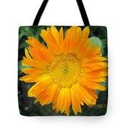 Center Yellow Tote Bag