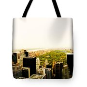 Central Park And The New York City Skyline From Above Tote Bag