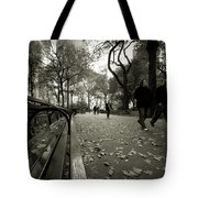 Central Park Bench Tote Bag