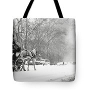Central Park In Falling Snow Tote Bag