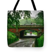 Central Park In The Rain Tote Bag